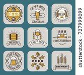 vintage craft beer retro logo... | Shutterstock .eps vector #727999099