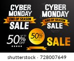 cyber monday sale  end of... | Shutterstock .eps vector #728007649