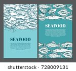 hand drawing vector seafood... | Shutterstock .eps vector #728009131