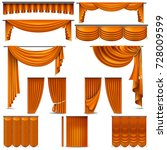 curtains and draperies interior ... | Shutterstock .eps vector #728009599