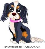 illustration of cavalier king... | Shutterstock .eps vector #728009734
