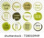 vector organic labels  bio... | Shutterstock .eps vector #728010949
