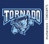 tornado mascot and sport logo   ...   Shutterstock .eps vector #728018971