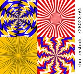 set of psychedelic spiral with... | Shutterstock .eps vector #728023765