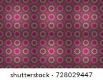 flowers on pink  neutral and... | Shutterstock . vector #728029447