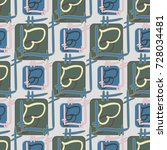 new colorful seamless pattern... | Shutterstock .eps vector #728034481