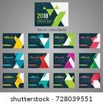 desk calendar 2018 template ... | Shutterstock .eps vector #728039551