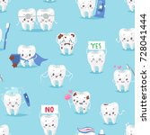 tooth character personage...   Shutterstock .eps vector #728041444
