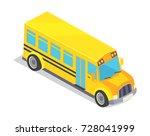 yellow school bus vector... | Shutterstock .eps vector #728041999