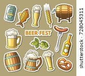 set of colored oktoberfest... | Shutterstock .eps vector #728045311