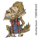 werewolf character vector and...   Shutterstock .eps vector #728058145