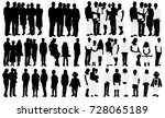 silhouette big family with baby ... | Shutterstock . vector #728065189
