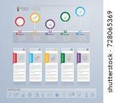 infographics template design... | Shutterstock .eps vector #728065369