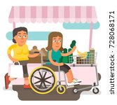 differently abled female... | Shutterstock .eps vector #728068171