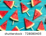 slices of watermelon | Shutterstock . vector #728080405