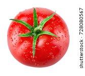 tomato with drops. tomato... | Shutterstock . vector #728080567
