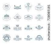 crown royal logo icons set.... | Shutterstock .eps vector #728085181