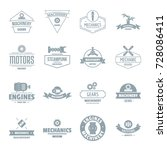mechanics logo icons set.... | Shutterstock .eps vector #728086411