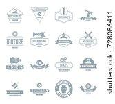 mechanics logo icons set.... | Shutterstock .eps vector #728086411