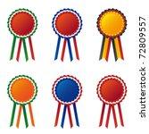 collection of flag cockade   Shutterstock .eps vector #72809557