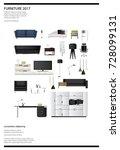 poster furniture sale vector... | Shutterstock .eps vector #728099131