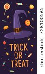 happy halloween. trick or treat.... | Shutterstock .eps vector #728100565