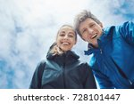 happy smiling couple  man and... | Shutterstock . vector #728101447