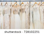many beautiful wedding dresses... | Shutterstock . vector #728102251