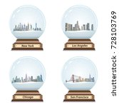 vector set of isolated snow... | Shutterstock .eps vector #728103769