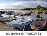 swedish boats marina landscape | Shutterstock . vector #72810451