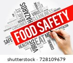 food safety word cloud collage  ... | Shutterstock . vector #728109679