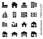 16 vector icon set   mansion ... | Shutterstock .eps vector #728111137