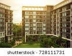 new modern apartment building | Shutterstock . vector #728111731