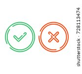 thin line check mark icons set... | Shutterstock .eps vector #728113474