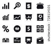 16 vector icon set   graph ... | Shutterstock .eps vector #728114101