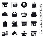16 vector icon set   shop  shop ... | Shutterstock .eps vector #728114329