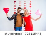 couple celebrating valentine day | Shutterstock . vector #728115445