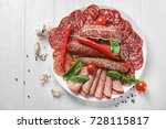 Plate With Delicious Sliced...