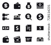 16 vector icon set   dollar ... | Shutterstock .eps vector #728116231