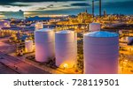 top view shot from drone of oil ... | Shutterstock . vector #728119501