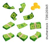 bundles of dollars isolated on... | Shutterstock .eps vector #728120365