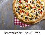 italian delicious fresh hot mix ... | Shutterstock . vector #728121955