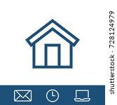 home icon vector fat design... | Shutterstock .eps vector #728124979