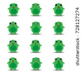 flat collection of funny frog | Shutterstock .eps vector #728127274