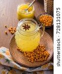vitaminic healthy sea buckthorn ...   Shutterstock . vector #728131075