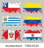 Splash Flags Set South America...