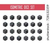 24 isometric dice. twenty four... | Shutterstock .eps vector #728132359