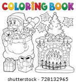 coloring book christmas... | Shutterstock .eps vector #728132965