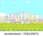 urban landscape | Shutterstock .eps vector #728135071