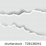 torn ripped paper transparent... | Shutterstock .eps vector #728138341